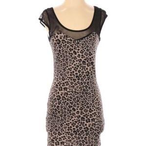 H&M Divided Bodycon Cheetah Print Dress SZ 6